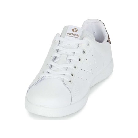 NEW Victoria Girls Shoes Kids Casual Leather Lace Up Sneakers 125104 Authentic](Girls White Sneakers)