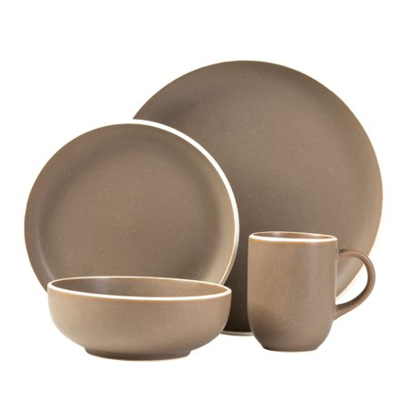 Sango: Tailor Suede 16-Piece Dinnerware Set, Including 4 dinner plates, 4 salad plates, 4 soup bowls, and 4 cereal bowls