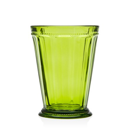 Godinger Hamilton House Green Stemless Wine Glasses, Set of 4 ()