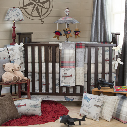 Glenna Jean Fly-By 3 Piece Crib Bedding Set