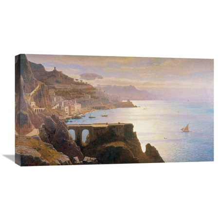 Global Gallery Amalfi Coast S L L  By William Stanley Haseltine Painting Print On Wrapped Canvas