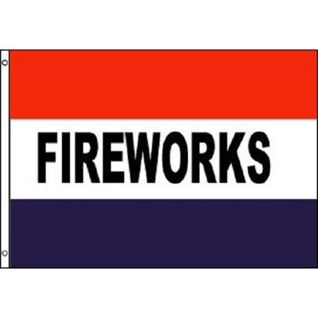 Tent Banner (FIREWORKS Flag Tent Store Banner Advertising Pennant Business Sign 3x5 July)
