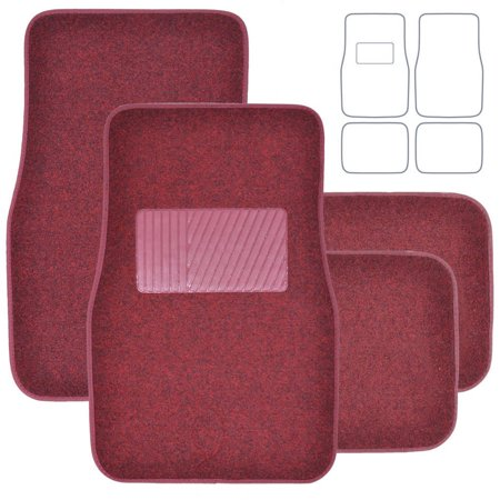 Bdk Premium Heavy Carpeted Floor Mats For Car 4 Piece