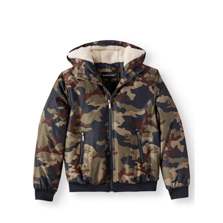 62105d897b1e NORTH ZONE - NORTH ZONE Camo Hooded Puffer Jacket (Little Boys   Big ...