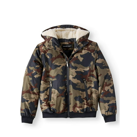 North Zone Camo Fashion Hooded Puffer Jacket (Little Boys & Big Boys) The North Face Hooded Vest