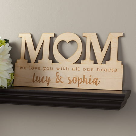 For Mom Personalized Wood Plaque - Mother