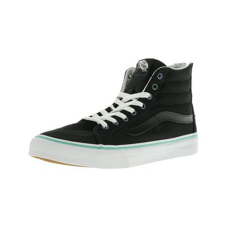 cb6d96392dea1a Vans - Vans Sk8-Hi Slim Zip Iridescent Eyelets Black High-Top Canvas  Skateboarding Shoe - 8M   6.5M - Walmart.com