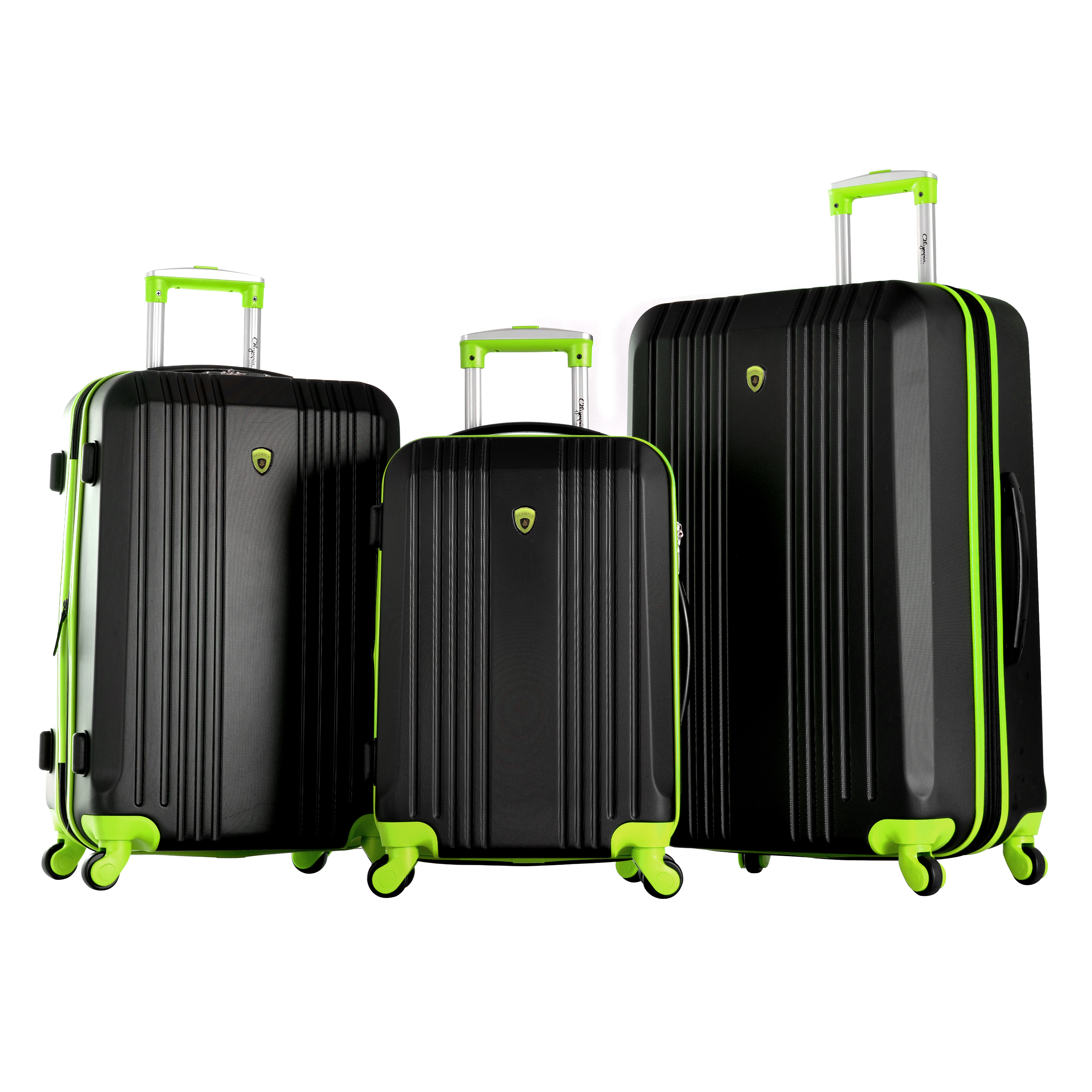 Apache 3 Piece Hardcase Spinner Set W/ Hidden Compartment