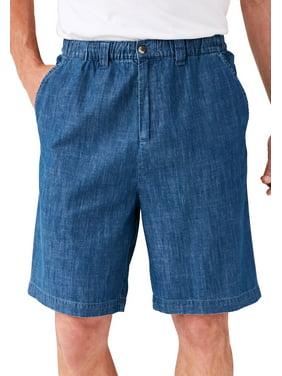 Kingsize Men's Big & Tall Knockarounds 8&#34 Full Elastic Plain Front Shorts