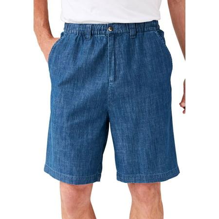 "Kingsize Men's Big & Tall Knockarounds 8"" Full Elastic Plain Front Shorts"