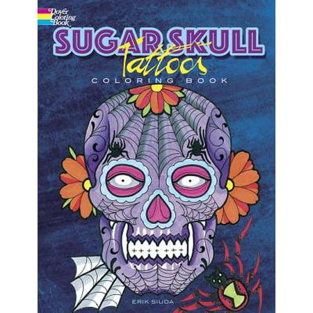 Sugar Skull Tattoos Coloring - Sugar Skull Tatoo