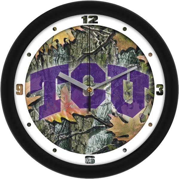 TCU Camo Wall Clock