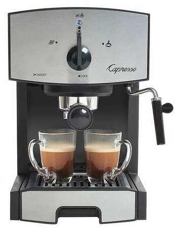 Click here to buy Capresso Dual Espresso Machine, 42 oz Black Silver, 117.05 by Capresso.
