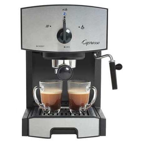 CAPRESSO Espresso Machine,Dual,Black/Silver,42 oz