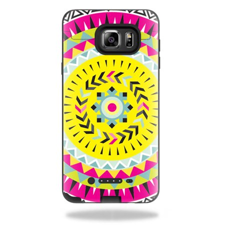 MightySkins Protective Vinyl Skin Decal for Mophie Juice Pack Samsung Galaxy Note 5 wrap cover sticker skins Pink Aztec