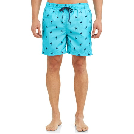 Kanu Surf Men's Flamingo Print Short Trunk Swimsuit