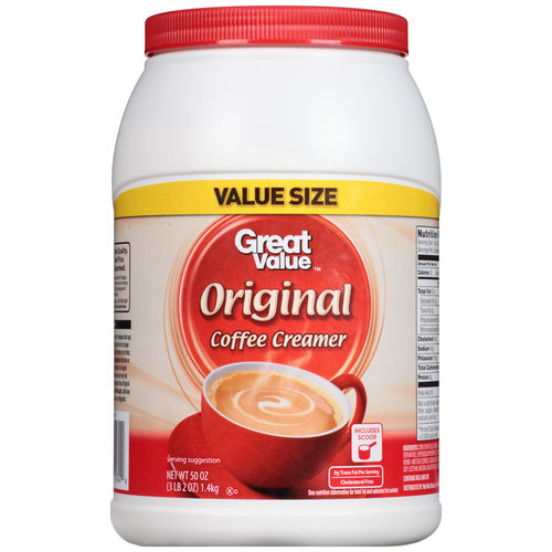 Great Value Original Coffee Creamer, 50 oz