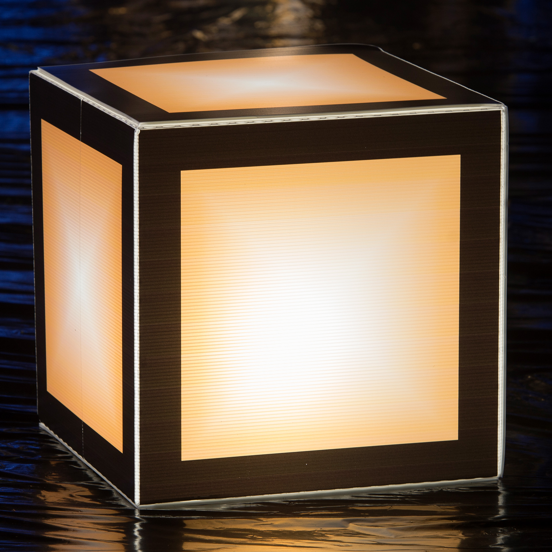 1 ft. 8 in. Let's Glow Crazy Orange Lighted Cube