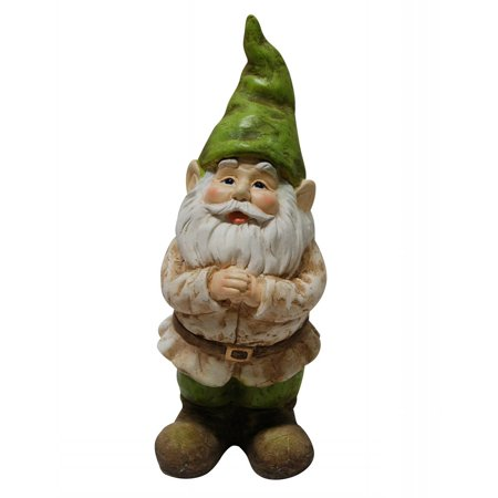Alpine Gnome Folding Hands Garden Statue, 12 Inch (Gnome New Panel)
