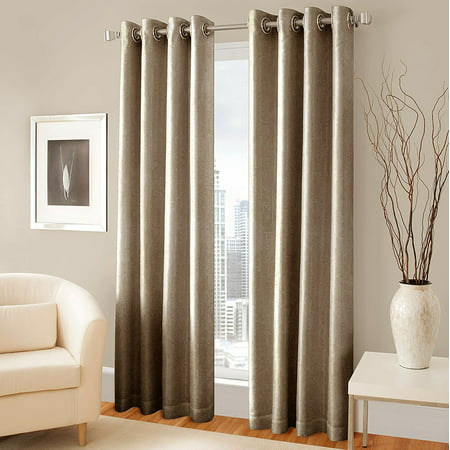 Window Curtains Drape Blinds Amro Jacquard Grommet Style 100 Polyester 7 Feet X 4 25 Ivory Color