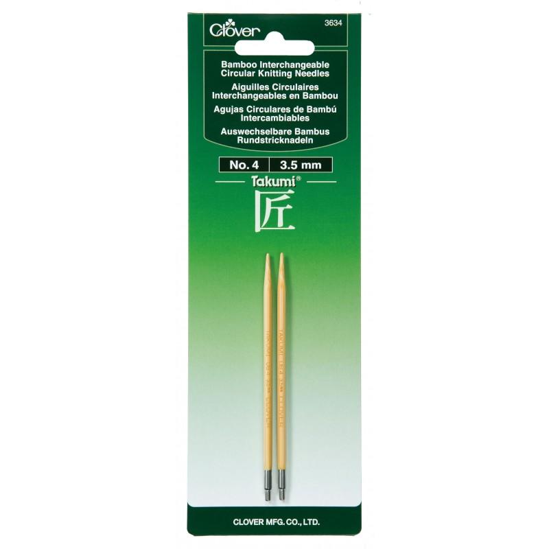 Takumi Bamboo Interchangeable Circular Knitting Needles, Size 4/3.5mm