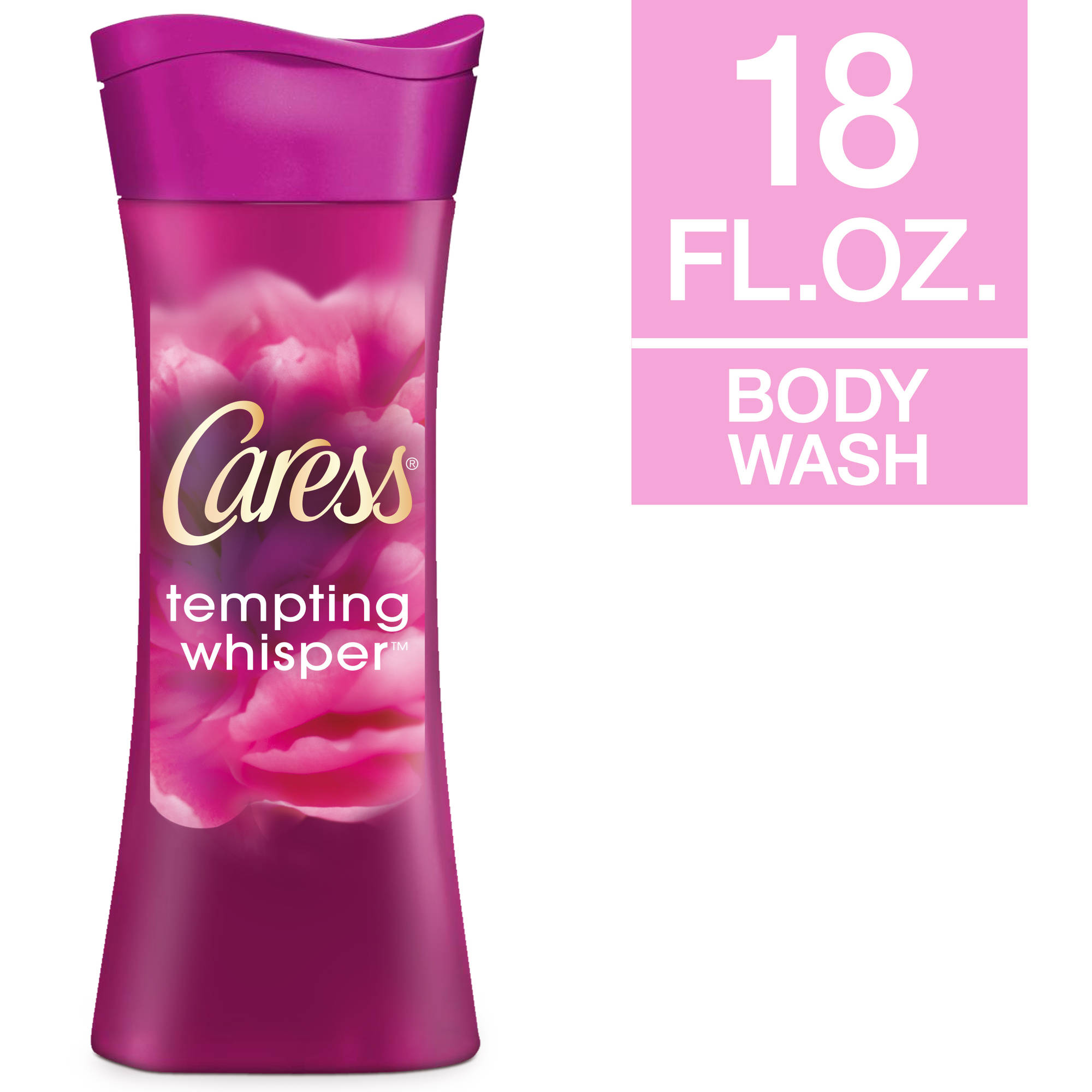 Caress Tempting Whisper Wild Peony & Red Plum Scent Body Wash, 18 fl oz