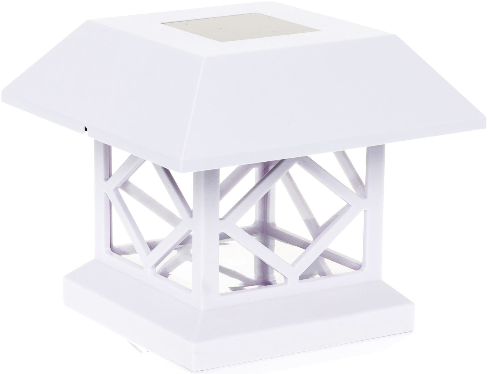 Moonrays 91268 Solar-Powered Post Cap LED Light for 6 by 6 Posts Black