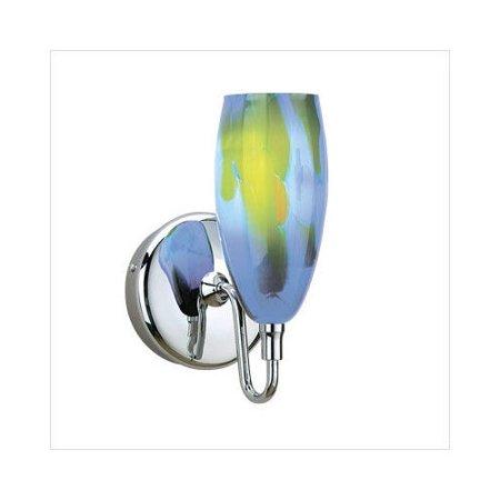 WAC Lighting Dome Art Glass Wall Sconce in Blue/Green - Walmart.com