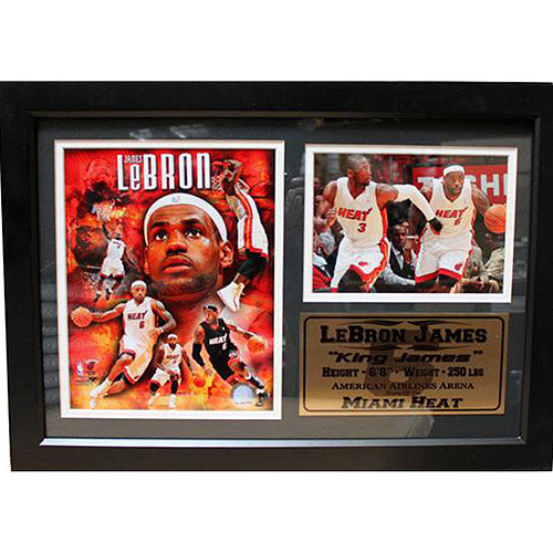 NBA LeBron James Photo Stat Frame, 12x18