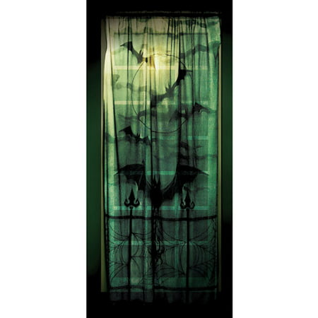 Lace Window Panel Halloween Decoration](Halloween Window Decorations Printable)