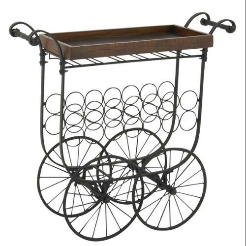 Benzara Striking Village Bar Cart