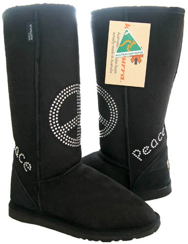Koolaburra Flash Sheepskin Crystal Boots Shoes by