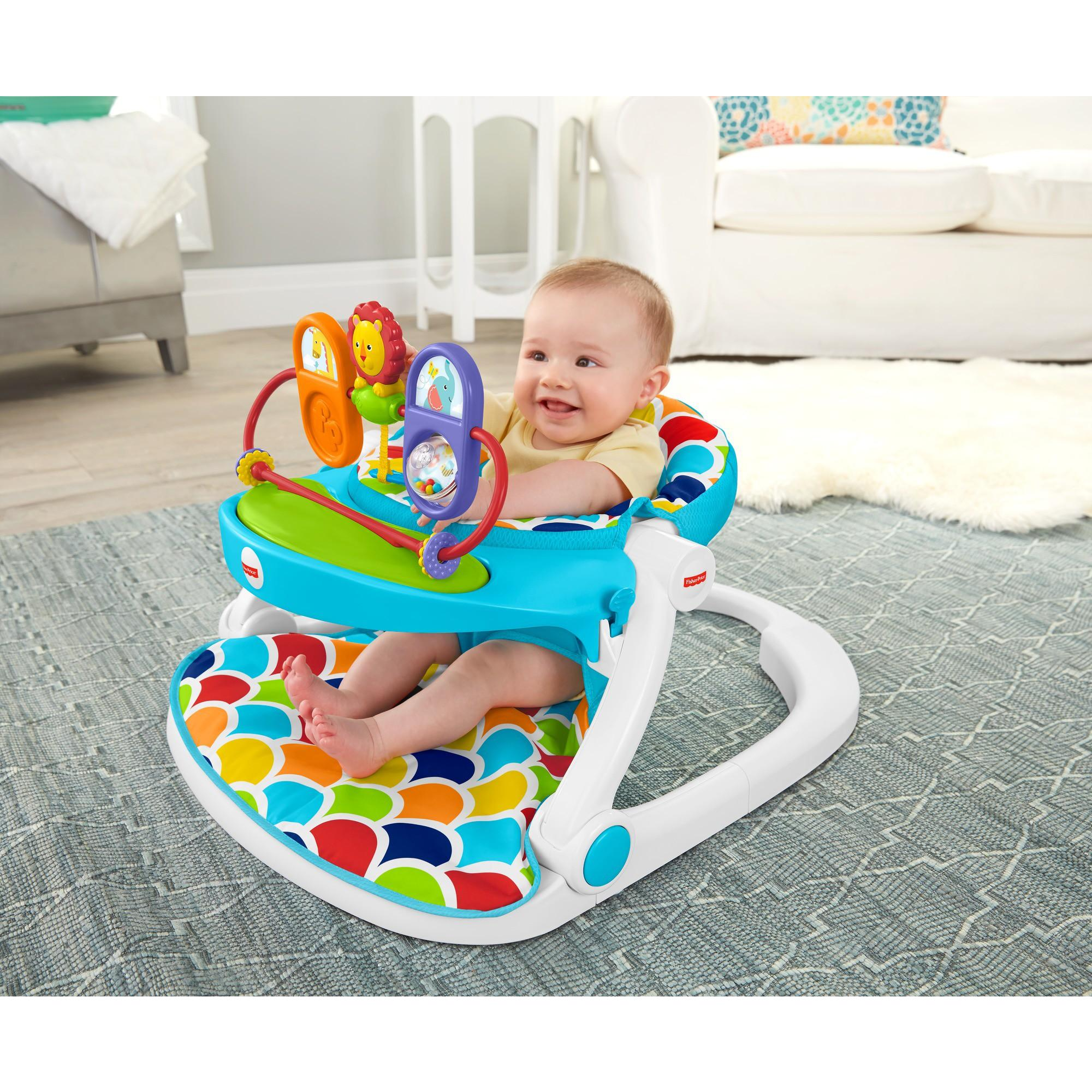 Fisher Price Sit Me Up Floor Seat With Toy Tray Walmart