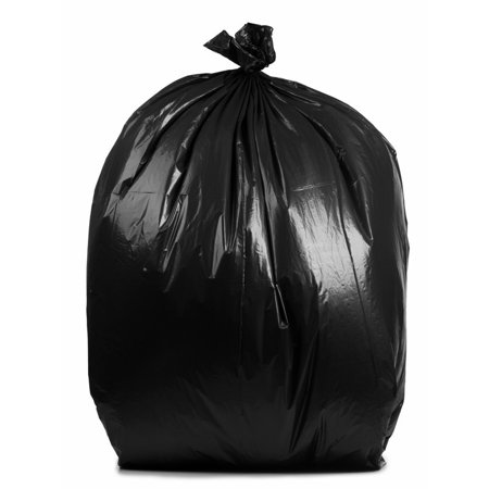 Plasticmill 95 Gallon Black 3 Mil 61x68 10 Bags Case Ultra Heavy Duty Garbage Trash Can Liners Contractor