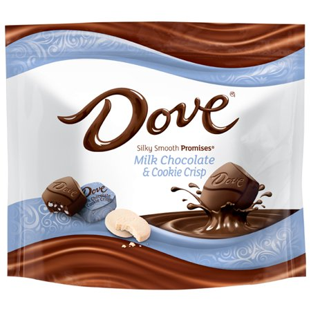 Dove Silky Smooth Promises Milk Chocolate & Cookie Crisp Candy, 7.61 - Cookies And Milk
