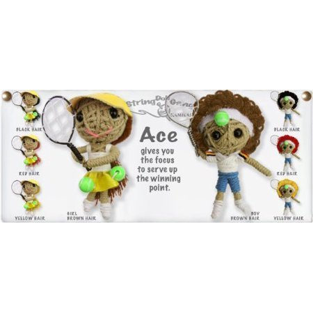 Ace Girl Tennis Player Original String Doll Gang Keychain Toy, Approx Size: 2 - 3 By -