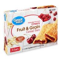 Great Value Fruit & Grain Bars, Cherry, 10.4 oz, 8 Count