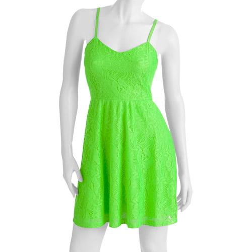 No Boundaries Juniors Spaghetti Strap Lace Dress