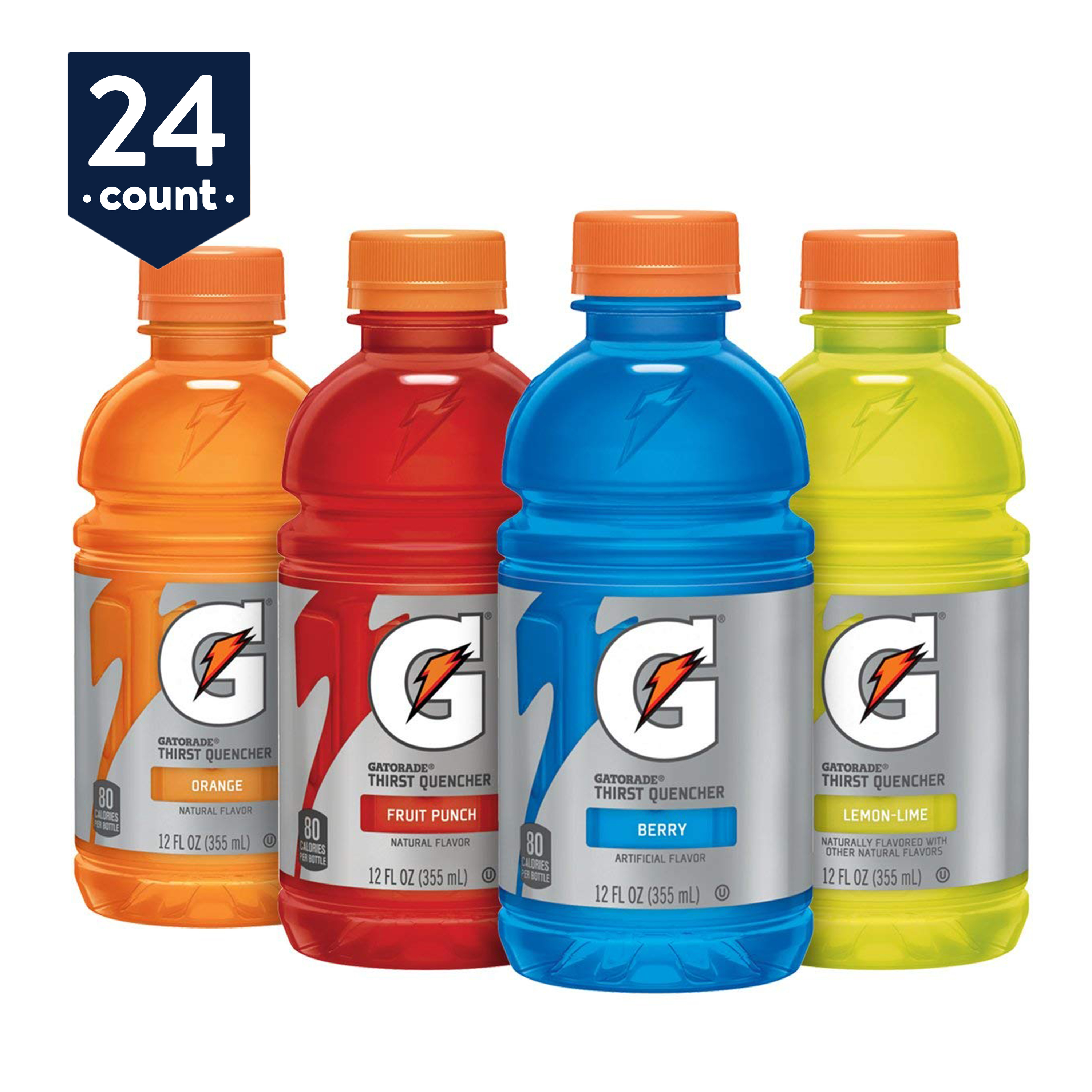 Gatorade Original Thirst Quencher Variety Pack, 12 oz Bottles, 24 Count