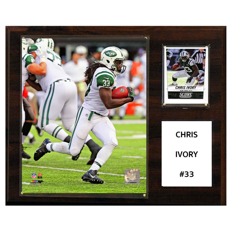 C&I Collectables NFL 12x15 Chris Ivory New York Jets Player Plaque