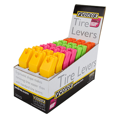 TOOL TIRE LEVERS PEDROS BX/24 4-COLORS
