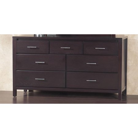 Modus Furniture International Nevis 7 Drawer Dresser Espresso