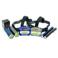 Ozark Trail 6-Piece Led Flashlight and Penlight and Headlamp Combo