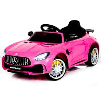 Electric power Mercedes GTR ride on car for Kids for girls with Remote Control Opening doors LED lights MP3 - Pink