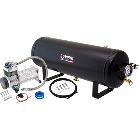 Vixen Horns 2.5 Gallon (9.5 Liter) Train/Air Horn Tank with 200 PSI Compressor Onboard System/Kit 12V (Air Compressor 200 Litre Tank 3hp 240v)