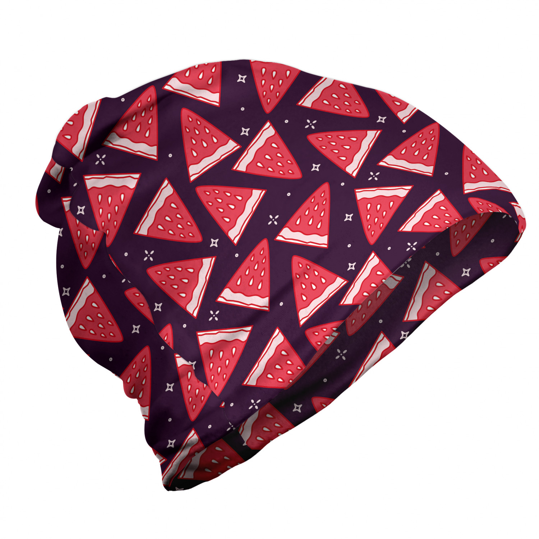 Watermelons pattern dark purple-dark coral lightweight beanie for summer