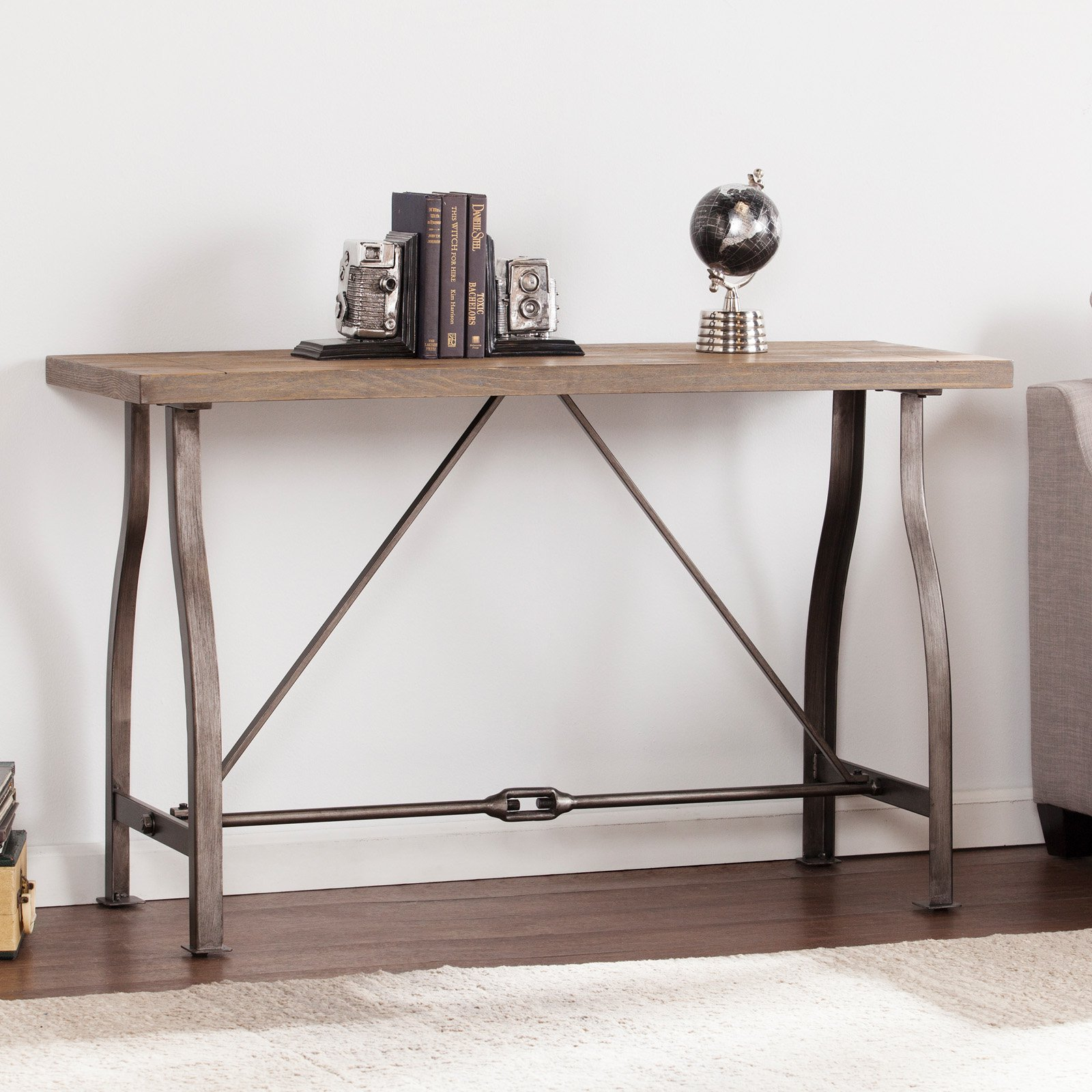 Southern Enterprises Jacinto Industrial Console Table Walmartcom