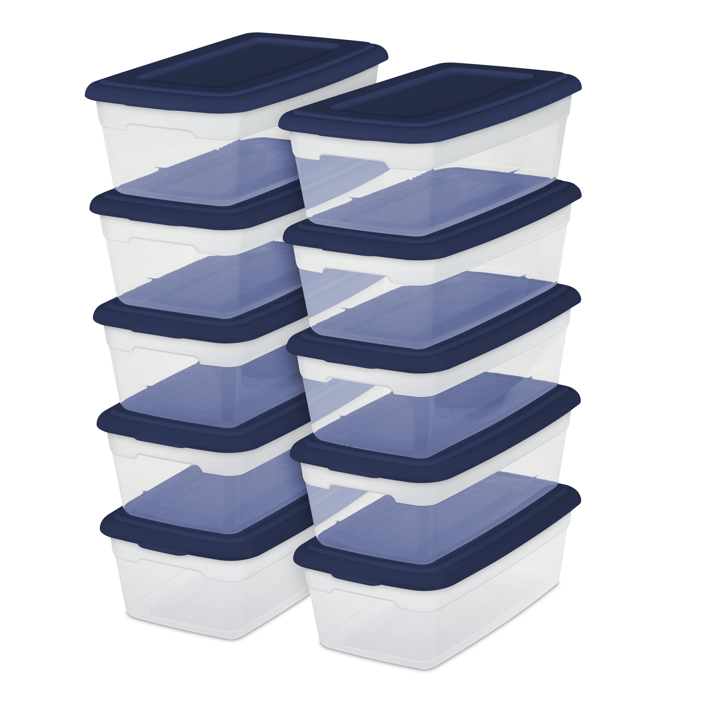 Sterilite, Set of (10) 6 Qt./5.7 L Storage Boxes