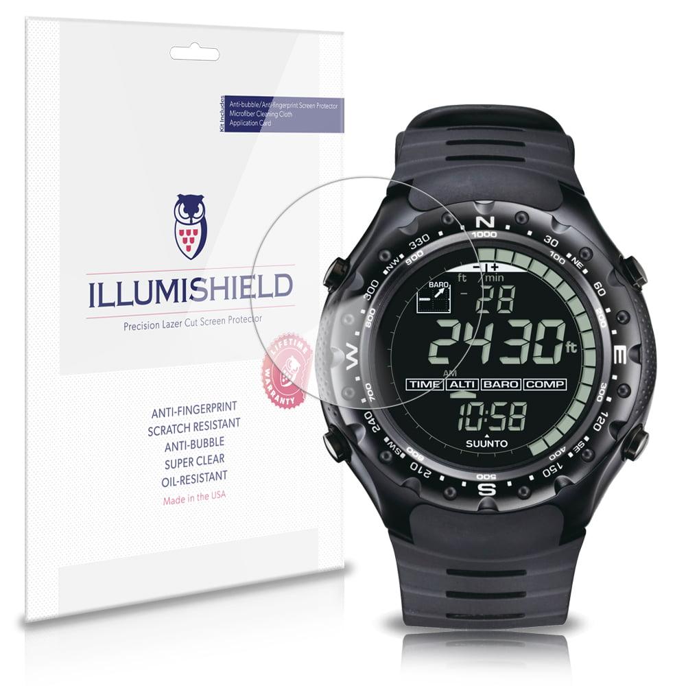 iLLumiShield Anti-Bubble Print Screen Protector 3x for Suunto X-Lander Military by iLLumiShield