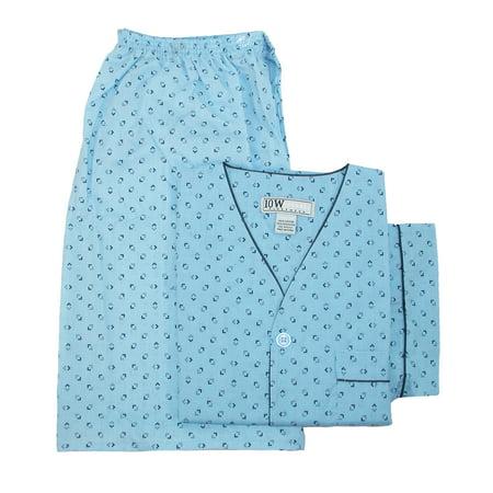 Ten West Apparel  Men's Short Sleeve Short Leg Pajama Set